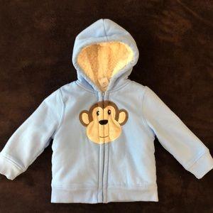 Baby boy fleece lined sweatshirt (24 mo)